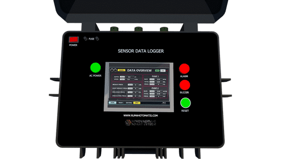 Oil gas data logger monitoring control system PLC HMI upload online 6